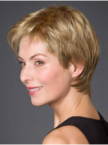 "Incredible 100% Hand-tied Synthetic Straight 8"" Short Wigs"