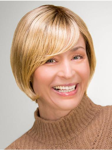 """Synthetic 10"""" Straight Chin Length Blonde Bob Style Wig"""