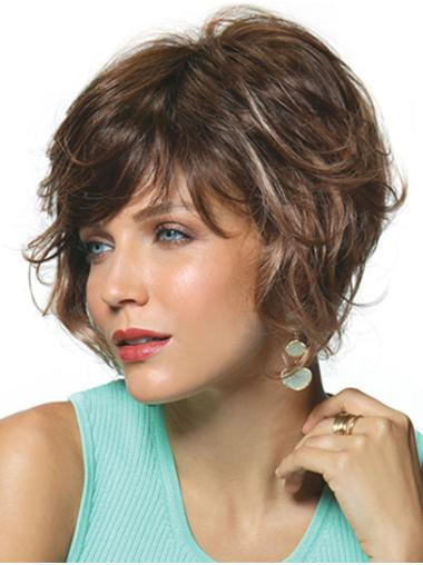 """Brown Curly 10"""" Synthetic Bobs The Best Monofilament Wigs"""