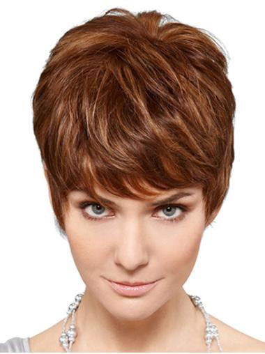 "Synthetic 6"" Wavy Short Blonde Classic Wig For Women"