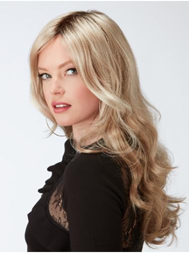 "20"" Curly Capless Blonde Layered Ladies Long Wigs"
