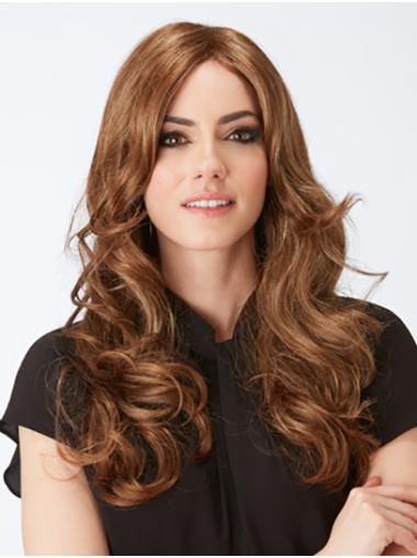 """20"""" Curly Capless Brown Layered Cheap Long Wigs"""