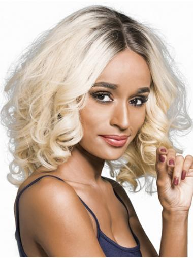 Shoulder Length Wavy Ombre/2 tone Remy Human Hair Bobs African American Wigs Wholesale Suppliers