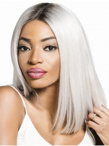 """14"""" Straight Ombre/2 tone Remy Human Hair Layered Full Lace Wigs For Women"""