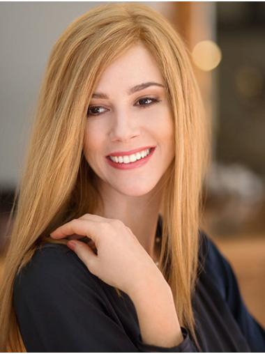 """16"""" Long Straight Blonde Layered Sassy Hand Tied Wig"""