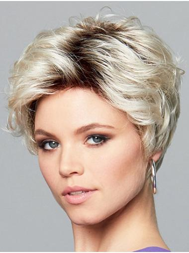 Wavy Monofilament Ombre/2 tone Synthetic Boycuts Trendy Short Wigs