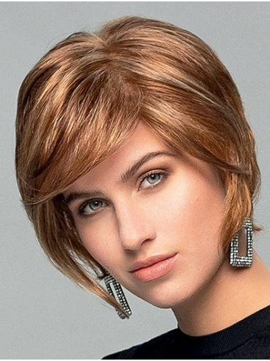 Wavy Monofilament Blonde Synthetic Boycuts Top Quality Ladies Short Wigs
