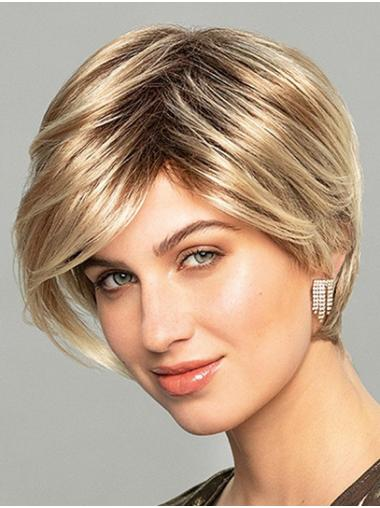 Short Wavy Monofilament Ombre/2 tone Synthetic Light Lace Wig