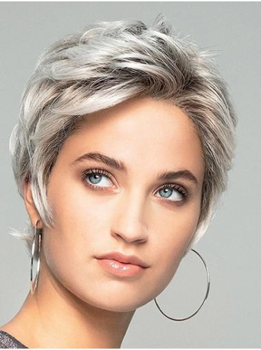 Short Wavy Monofilament Ombre/2 tone Synthetic Lace Wigs For Women