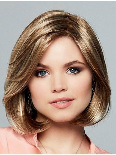 """10"""" Chin Length Straight Ombre/2 tone Synthetic Sleek Monofilament Wigs"""