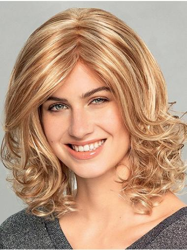 """14"""" Shoulder Length Wavy Ombre/2 tone Synthetic Monofilament Wigs New"""