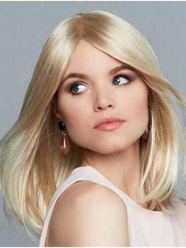 Straight Monofilament Blonde Synthetic Layered Styling Long Wig