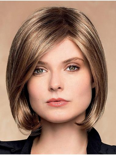 Short Wavy Monofilament Ombre/2 tone Synthetic Ladies Lace Wigs