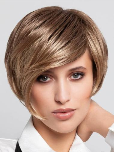 """Straight Blonde Monofilament Synthetic 8"""" Short Wigs Buy"""