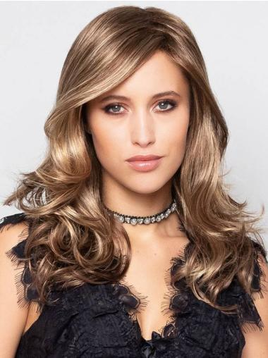 """Curly Blonde With Highlights Monofilament Synthetic 16"""" Long Wigs Online"""