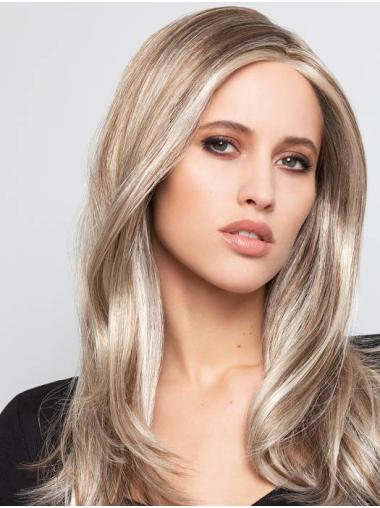 """Straight Ombre/2 tone With Highlights Monofilament Synthetic 16"""" Sleek Long Wigs"""