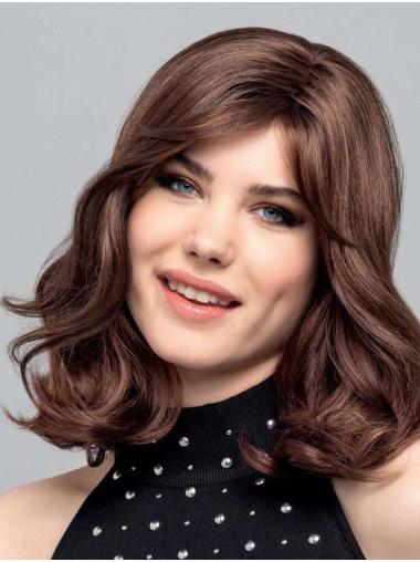 "Curly Auburn Monofilament Synthetic 14"" Ideal Medium Wigs"
