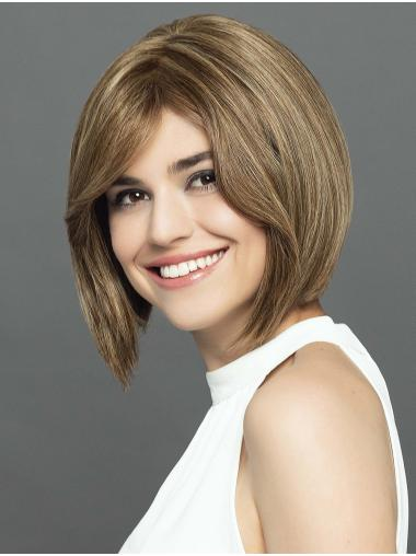 """12"""" Straight Ombre/2 tone With Highlights Bobs Lightweight Hand Tied Wigs"""