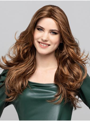 """18"""" Long Blonde With Highlights Without Bangs Synthetic Popular Monofilament Wigs"""