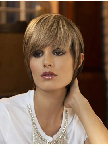 """Straight Capless Blonde Synthetic 8"""" Boycuts Online Short Wigs"""