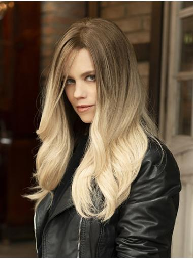 """18"""" Long Wavy Monofilament Ombre/2 Tone Without Bangs Ideal Synthetic Wigs"""