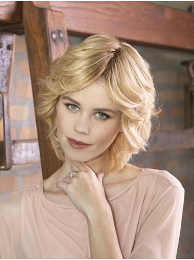 """Curly Capless Blonde Synthetic 10"""" Layered Sassy Short Wigs"""