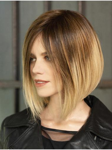 """Straight Ombre/2 Tone 12"""" Chin Length Synthetic Bobs Fabulous Lace Front Wigs"""