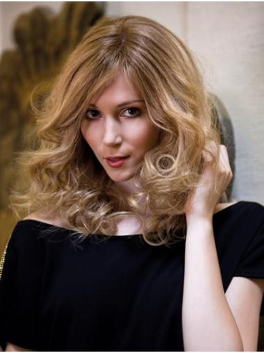 """14"""" Shoulder Length Curly Capless Blonde Without Bangs No-fuss Synthetic Wigs"""