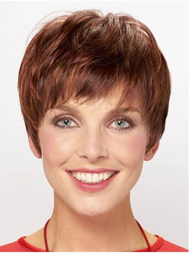 """8"""" Straight Capless Synthetic With Bangs Ladies Short Wigs"""