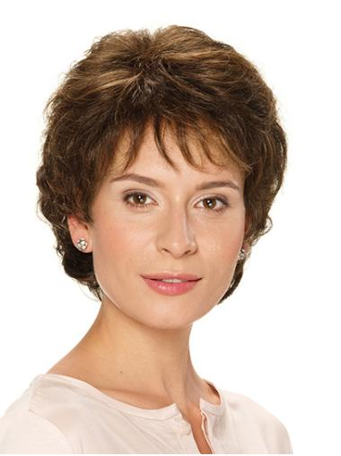 """Short Brown Wavy 10"""" Classic Wig For Women"""