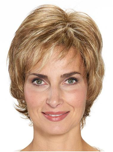 "Short Blonde Wavy 10"" Best Quality Classic Wigs"