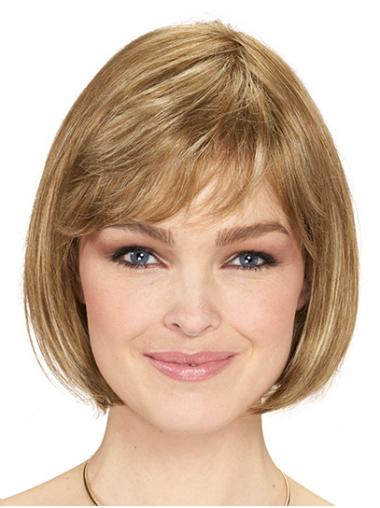 "Monofilament Synthetic Chin Length 10"" Wigs Bob Style"