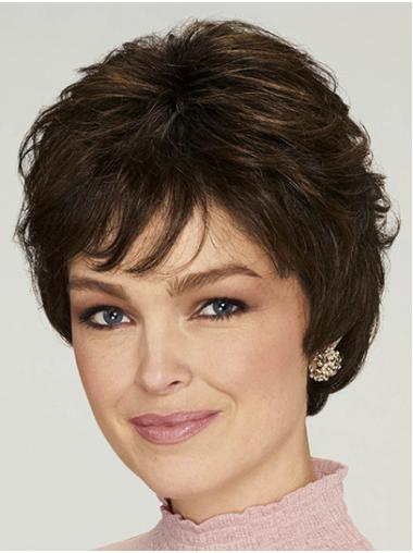 "Short Black Wavy 8"" High Quality Classic Wigs"