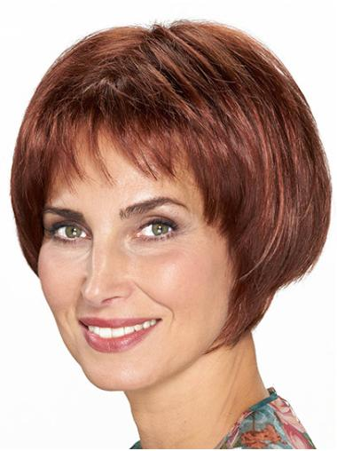"Monofilament Synthetic Chin Length 10"" Bob Wigs"