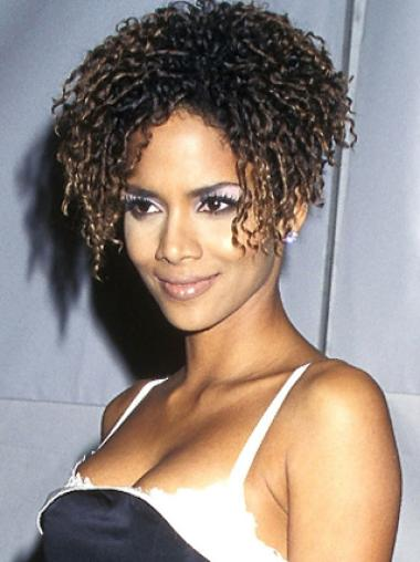 706edee49 Halle Berry Avant grade Short Curly Lace Human Hair Wig 8 Inches,Celebrity  Wigs