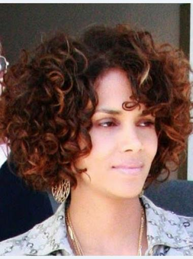 Halle Berry Voluminous and Vivacious Short Curly Lace Human Hair wig