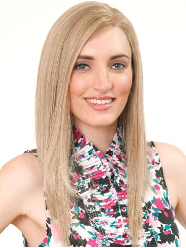 Gorgeous Blonde Straight Long Human Hair Wigs