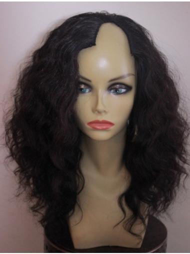 Amazing Black Wavy Shoulder Length African American Wigs