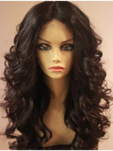 Gentle Lace Front Wavy Long African American Wigs
