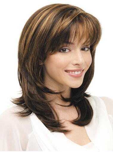 Good Lace Front Straight Shoulder Length Synthetic Wigs