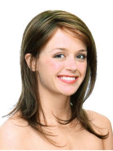 Comfortable Blonde Monofilament Shoulder Length Synthetic Wigs