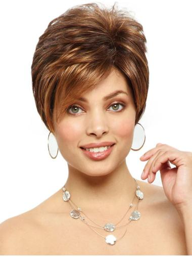 Easeful Auburn Straight Short Synthetic Wigs