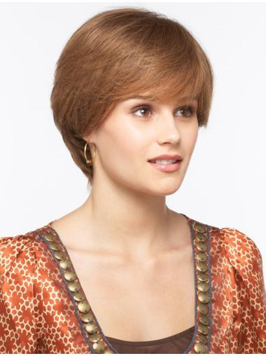 Top Monofilament Straight Short Synthetic Wigs