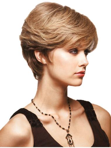 Best Blonde Monofilament Short Synthetic Wigs