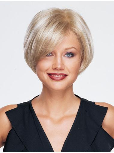 Sassy Blonde Monofilament Chin Length Synthetic Wigs