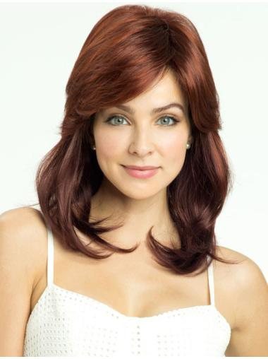 Radiant Auburn Lace Front Shoulder Length Synthetic Wigs