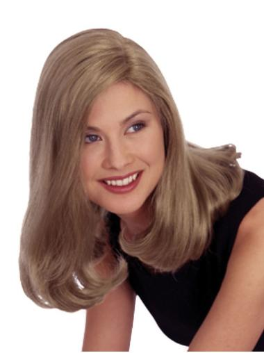 Stylish Blonde Straight Shoulder Length Synthetic Wigs