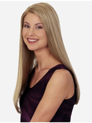 Shining Blonde Straight Long Synthetic Wigs