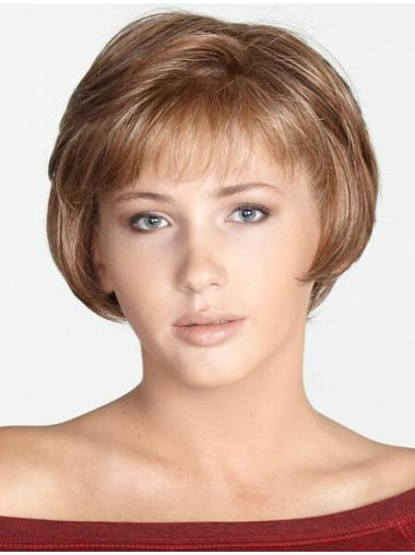 Perfect Blonde Monofilament Chin Length Synthetic Wigs