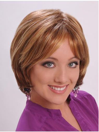 Perfect Auburn Straight Chin Length Synthetic Wigs